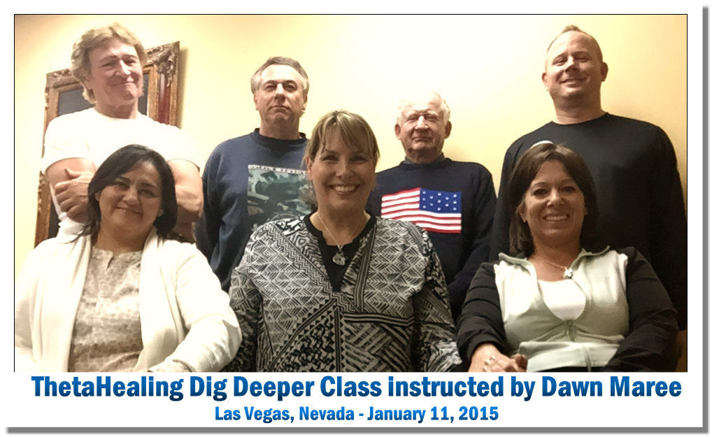 ThetaHealing Dig Deeper Class in Las Vegas instructed by Dawn Maree, January 2015