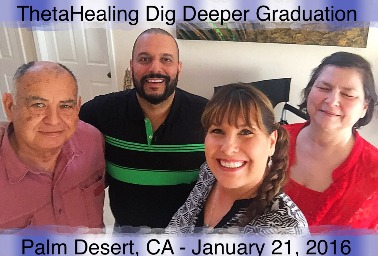 ThetaHealing Dig Deeper Class instructed by Dawn Maree in Palm Desert, California with Jose Mejia and Dawn Lovejoy