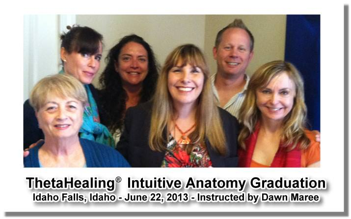 ThetaHealing Intuitive Anatomy Class instructed by Dawn Maree in Ammon, Idaho with Tiffany Stevens, Jeff Renel, Isabelle Beauchamps, Marsha Coffman and Elizabeth Campbell
