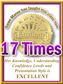 Dawn Maree has taught ThetaHealing Intuitive Anatomy now 17 times. ThetaHealing Certificate of Science, ThetaHealing Master Instructor
