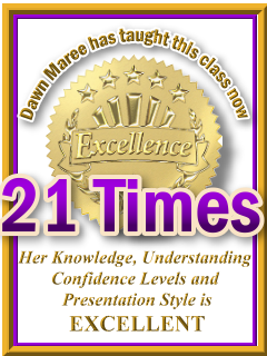 Dawn Maree has taught ThetaHealing RHYTHM to finding your perfect weight now 22 times. ThetaHealing Certificate of Science, ThetaHealing Master Instructor